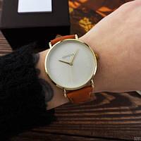 Стильные женские наручные часы Geneva Classic Brown-Silver-White