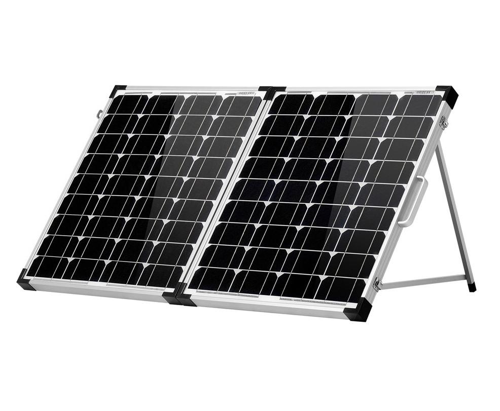 Раскладная солнечная панель 100 Вт ( 2 х 50 Вт ) с опорой и контроллером