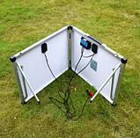 Раскладная солнечная панель 100 Вт ( 2 х 50 Вт ) с опорой и контроллером, фото 2