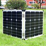 Раскладная солнечная панель 100 Вт ( 2 х 50 Вт ) с опорой и контроллером, фото 3