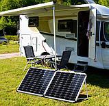 Раскладная солнечная панель 100 Вт ( 2 х 50 Вт ) с опорой и контроллером, фото 9