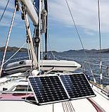 Раскладная солнечная панель 100 Вт ( 2 х 50 Вт ) с опорой и контроллером, фото 10