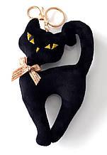 Брелок-підвіска кішечка 17х10 см, чорний