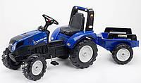 Детский педальный трактор с прицепом Falk 3090B New Holland для детей, фото 1