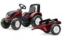Дитячий педальний трактор з причепом Falk 4000AB VALTRA S4 для дітей, фото 1