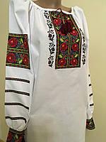 Вишита сорочка жіноча Борщівська домоткане полотно 50 розмір
