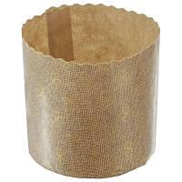 Форма для пасхи бумажная, форма для выпечки кулича 125х100 мм, 370 грамм (Италия), набор 50 шт
