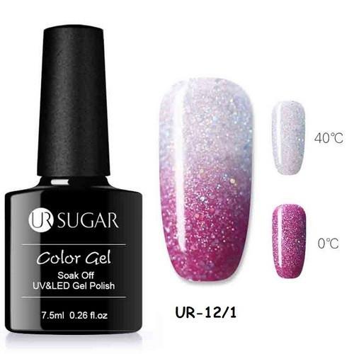 Термо гель-лак для ногтей маникюра термолак 7.5мл UR Sugar, UR-12/1
