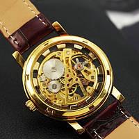 Часы наручные мужские  механически классические  Winner 8005 Brown-Gold