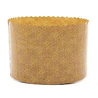 Форма для пасхи бумажная, форма для выпечки кулича 155х106мм, 750 грамм (Италия), набор 50 шт