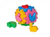 Куб Розумний малюк з фігурками свійських тварин Умный малыш Домашние животные ТехноК 1943