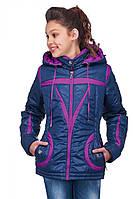 Детская куртка с декоративными полосками