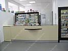 Оборудование для аптеки. Бежевый цвет.