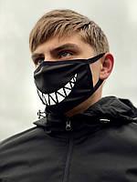 Маска мужская | женская защитная многоразовая  тканевая OHRA XX black