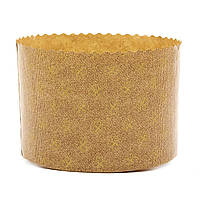 Форма для пасхи бумажная, форма для выпечки кулича 135х115мм, 500 грамм (Италия), набор 50 шт