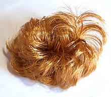 Гумка зі штучного волосся 12 см русявий