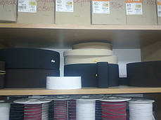 Резинки на голенище эластичные 16 см. цвет черн. (Италия), фото 3