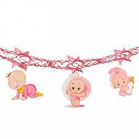 Гирлянда 3D Girl с подвеской Новорожденная
