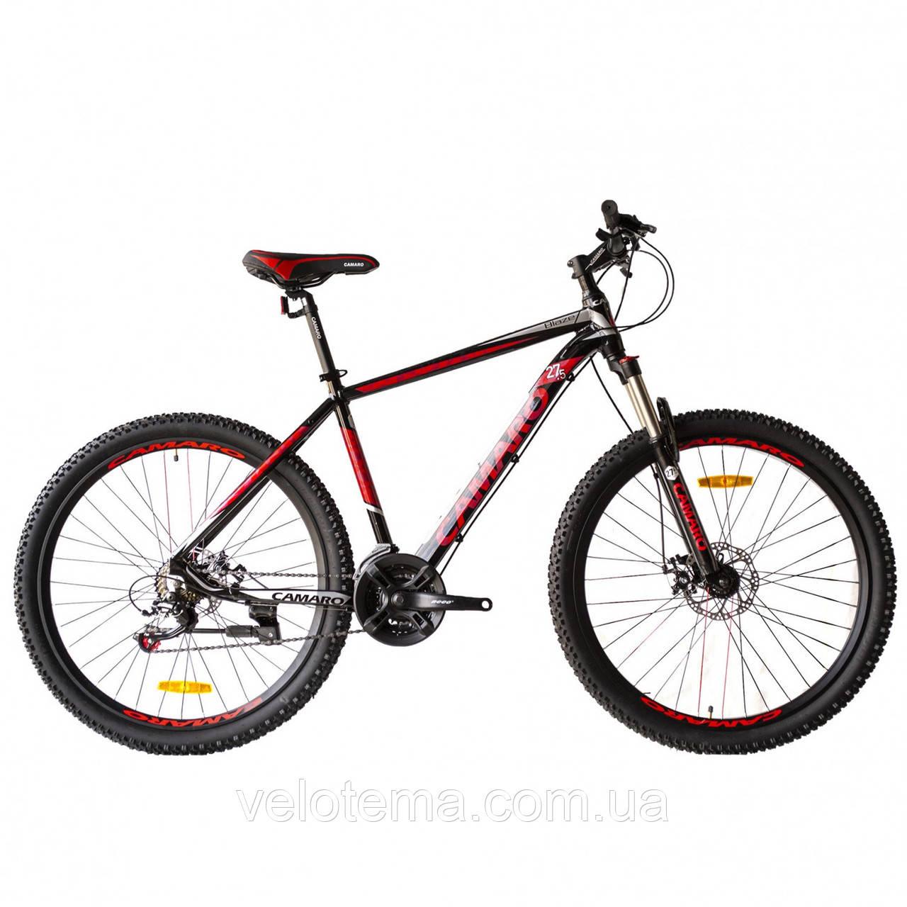 """Велосипед CAMARO Blaze 27.5"""" чорно-червоний Рама 17"""" 19"""" 2020р"""