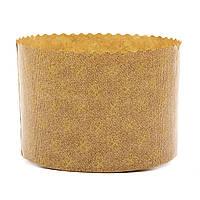 Форма для пасхи бумажная, форма для выпечки кулича  90х90мм, 270 грамм (Италия), набор 50 шт