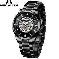 Часы механические с автоподзаводом водонепроницаемые  Megalith 8210M All Black