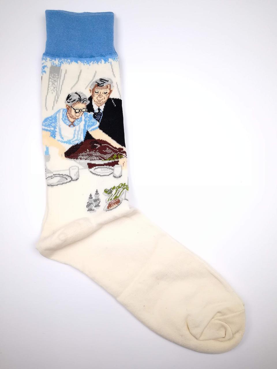 Носки с необычным принтом Трапеза