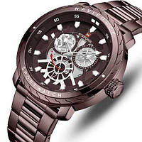 Часы наручные кварцевые мужские оригинальные Naviforce NF9158 All Brown