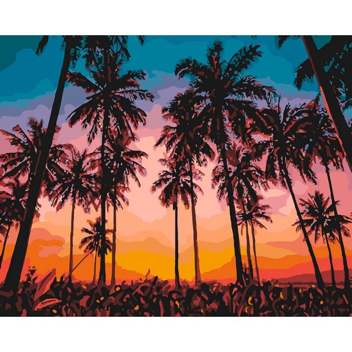 Картина по номерам Идейка -  Экзотический вечер 40x50 см (КНО2257)