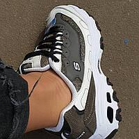 Женские кроссовки в стиле Кроссовки Skechers D'Lites 2 Grey White