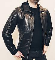 Куртка кожаная мужская Philipp Plein с капюшоном