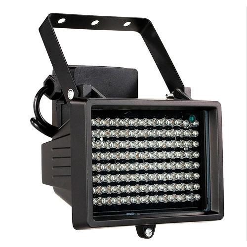Прожектор инфракрасный ИК для камер 96LED 60м уличный, черный