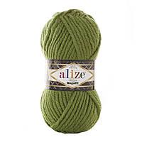 Толстая зимняя пряжа (25%-шерсть,75%-акрил;100г/55м) Alıze MEGAFIL 485 (зелёный)