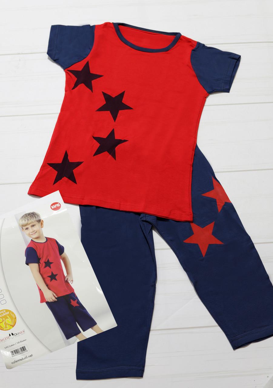 Комлект одежды летний для мальчика, хлопок (футболка короткий рукав+капри) Ozlem Donex