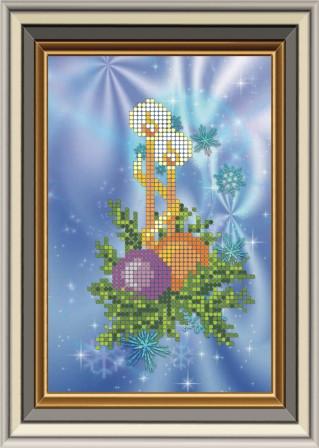 Схема для вышивки бисером Новогодние свечи. Арт. НР-001