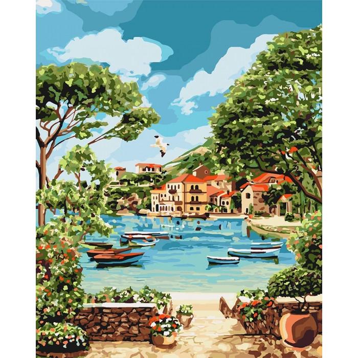 Картина по номерам Идейка -  Отдых в бухте 40x50 см (КНО2738)