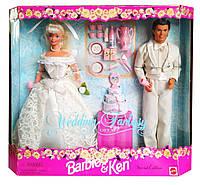 Коллекционные куклы Барби и Кен Свадебная фантазия Barbie & Ken Wedding Fantasy 1996 Mattel 17243, фото 1