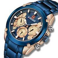 Часы мужские кварцевые Naviforce NF9113 Blue-Cuprum AB-1096-0079