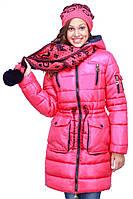 Стильная зимняя курточка яркого цвета