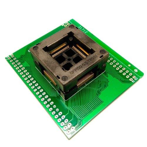 TQFP100 LQFP100 QFP100 - DIP100 переходник панелька OTQ-100-0.5-09