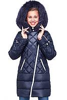 Зимнее пальто с флисовой подкладкой с капюшоном