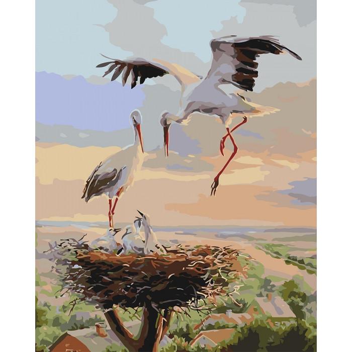 Картина по номерам Идейка -  Семейное гнездышко 40x50 см (КНО4142)