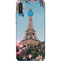 Оригинальный силиконовый чехол для Huawei P30 Lite с картинкой Париж