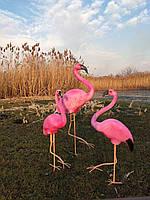 Садовая фигура Фламинго комплект №1. декоративная  садовая фигура.