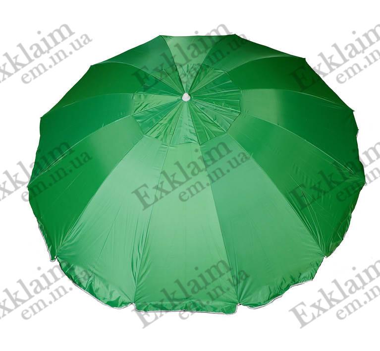 Зонт садовий 2.50 метра на 12 спиць (Зелений)