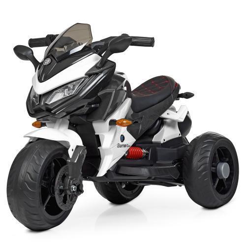 Детский мотоцикл на аккумуляторе M 4274EL-1 белый