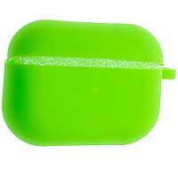 Силиконовый чехол Aare Silicone Case с карабином для наушников AirPods Pro Светло-зеленый (00007692)