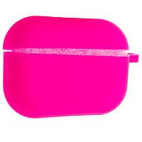 Силиконовый чехол Aare Silicone Case с карабином для наушников AirPods Pro Ярко-розовый (00007692)