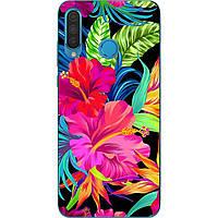 Оригинальный силиконовый чехол для Huawei P30 Lite с картинкой Яркие цветы