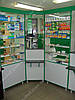 Аптечная мебель стеллажи, витрины, прилавки
