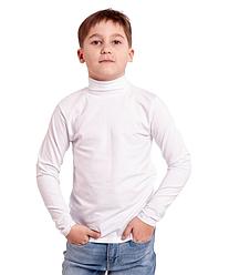 Водолазка белая гольф детская для девочек и мальчиков трикотажная хлопок Украина